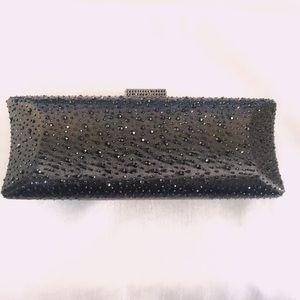 New Women's Black Evening Wedding clutch handbag